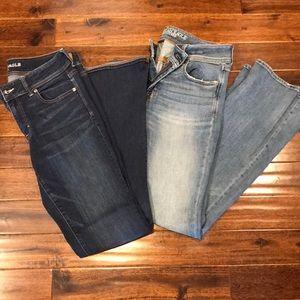 Women's American Eagle kick boot jeans bundle